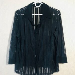 Tops - Stripped Blouse